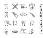 teeth  dentistry medical line... | Shutterstock .eps vector #403996597