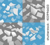 flying blank paper sheets... | Shutterstock .eps vector #403996603