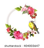 vintage floral wreath for... | Shutterstock . vector #404003647