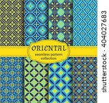 eastern seamless patterns. set... | Shutterstock .eps vector #404027683