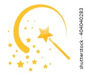 magic wand stars flat icon... | Shutterstock .eps vector #404040283