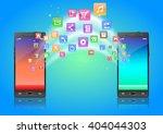 touchscreen smartphone with... | Shutterstock . vector #404044303