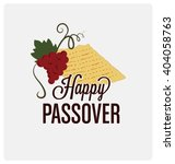 happy passover typographic... | Shutterstock .eps vector #404058763