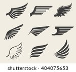 Wings Vector Icons Set. Wing...