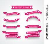 vector illustration of a ribbon ... | Shutterstock .eps vector #404080813