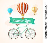 summer card with hot air... | Shutterstock .eps vector #404086327