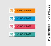 3d choose date button set with... | Shutterstock .eps vector #404106313