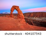 Pink Sunset At Delicate Arch ...