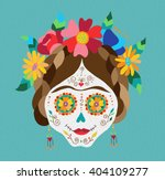 traditional mexican catrina... | Shutterstock .eps vector #404109277