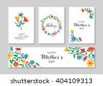 set of retro flower cards... | Shutterstock .eps vector #404109313