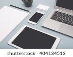 responsive design mockup | Shutterstock . vector #404134513