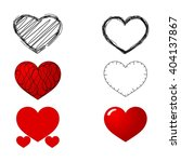 symbols   heart. | Shutterstock .eps vector #404137867