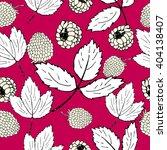 raspberry pattern. summer... | Shutterstock .eps vector #404138407