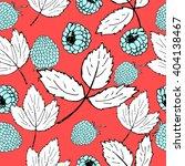 raspberry pattern. summer... | Shutterstock .eps vector #404138467