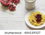 millet porridge with milk ...   Shutterstock . vector #404139337