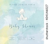 watercolor baby boy shower card ... | Shutterstock .eps vector #404146027