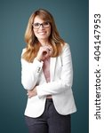portrait of smiling executive... | Shutterstock . vector #404147953