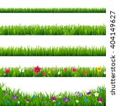 grass borders set with gradient ... | Shutterstock .eps vector #404149627