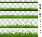 green grass borders big set ... | Shutterstock .eps vector #404155447