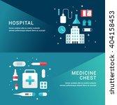 medicine concept. set of flat... | Shutterstock .eps vector #404158453