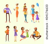 family and children cartoon set ... | Shutterstock .eps vector #404176633