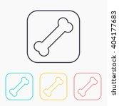 bone color icon set  | Shutterstock .eps vector #404177683