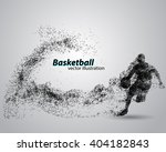 basketball player of particle.... | Shutterstock .eps vector #404182843