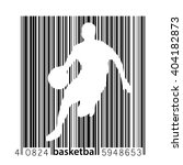 basketball player in a barcode... | Shutterstock .eps vector #404182873