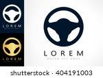steering wheel logo. vector... | Shutterstock .eps vector #404191003