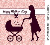 card happy mother's day.... | Shutterstock .eps vector #404192893