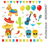 mexican party elements | Shutterstock .eps vector #404200447