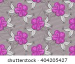 light purple flowers.hand drawn ... | Shutterstock .eps vector #404205427