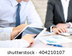 business colleagues working... | Shutterstock . vector #404210107