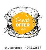 vector vintage fast food... | Shutterstock .eps vector #404212687
