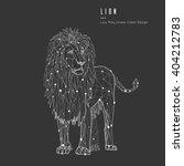 vector illustration lion. the... | Shutterstock .eps vector #404212783