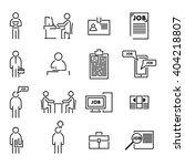 job icons set  | Shutterstock .eps vector #404218807
