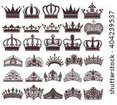 illustration set of silhouettes ... | Shutterstock .eps vector #404239537