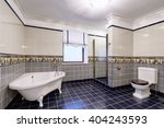 the interior of bathroom   Shutterstock . vector #404243593