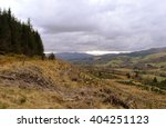 path on knock of crieff... | Shutterstock . vector #404251123
