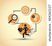 businessman icon design  vector ... | Shutterstock .eps vector #404262127