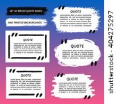 vector quote boxes set. painted ... | Shutterstock .eps vector #404275297