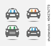 people traveling by car icons | Shutterstock .eps vector #404276773