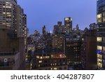High Angle View Of New York...