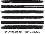 set of grunge brush strokes  | Shutterstock .eps vector #404288227