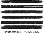 set of grunge brush strokes  | Shutterstock .eps vector #404288227
