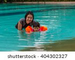 asian mother and daughter in... | Shutterstock . vector #404302327