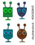 cartoon smiling robot heads in... | Shutterstock .eps vector #40430845