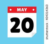 calendar icon flat may 20