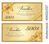gift voucher template with a... | Shutterstock .eps vector #404321557