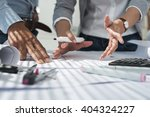 hands of creative team... | Shutterstock . vector #404324227